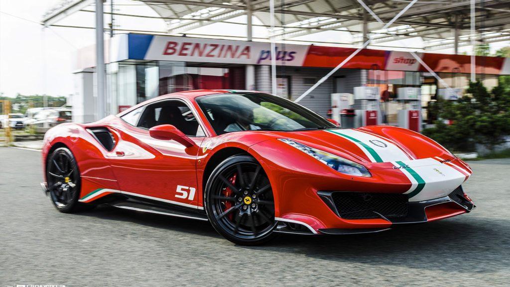 Ferrari 488 Pista Piloti Rental Miami Lusso